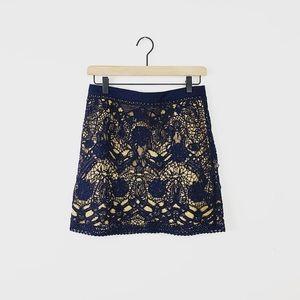 EUC Club Monaco Lace Mini skirt